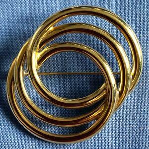 Vintage Gold Tone Monet Brooch
